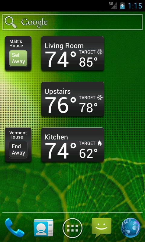 EnergyHub Thermostat- screenshot