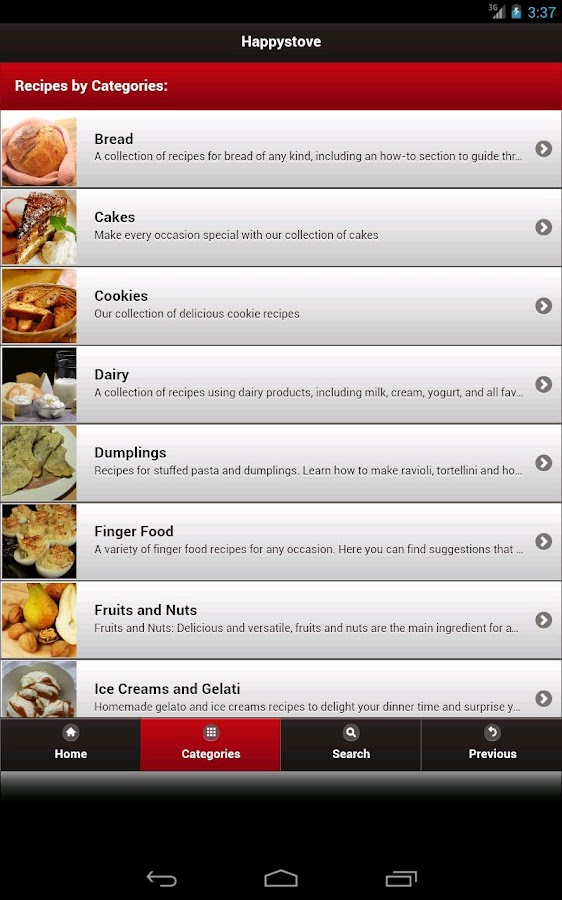 Happystove Recipes- screenshot