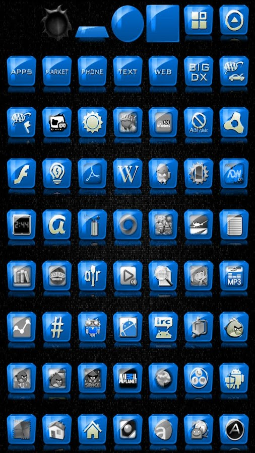 Slick Launcher Theme Blue - screenshot