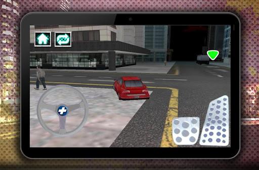 市中心的街道停車3D