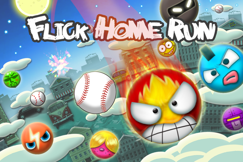 Flick Home Run! baseball game- screenshot