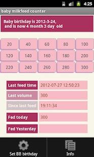 Baby milk feed counter (free)- screenshot thumbnail