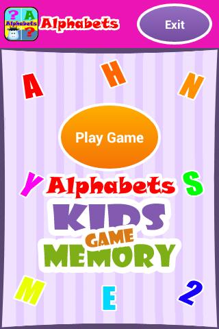Alphabets - Kids Memory Game