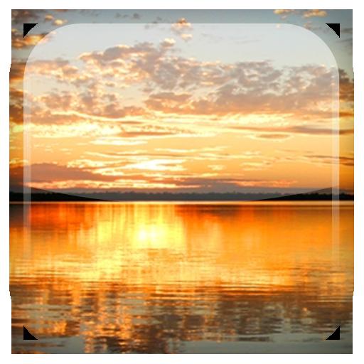 個人化App|日落之湖動態桌布 LOGO-3C達人阿輝的APP