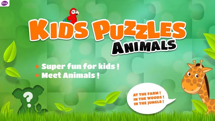 Kids Puzzle Games Animals Free - screenshot