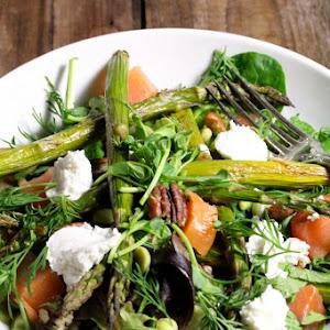 Springtime Green Mishmash Salad