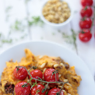 Mediterranean Mashed Potatoes with Grilled Tomatoes