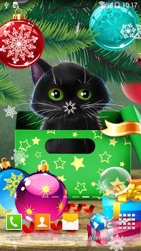 mod Kitten on Christmas Wallpaper 1.0.3 screenshots 2