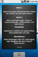 Screenshot of Uni Koblenz Mensa Widget