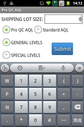 Pro QC - AQL