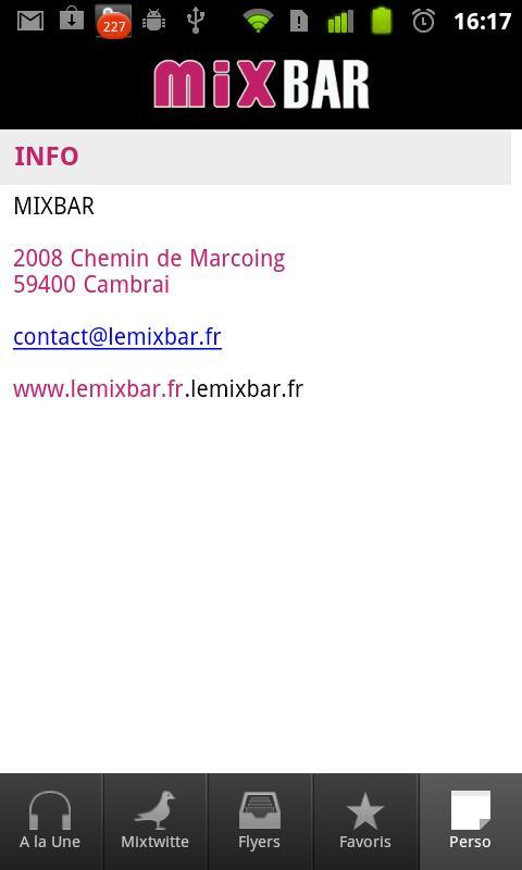 mixbar- screenshot