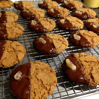 Ginger Cookies dipped in Chocolate
