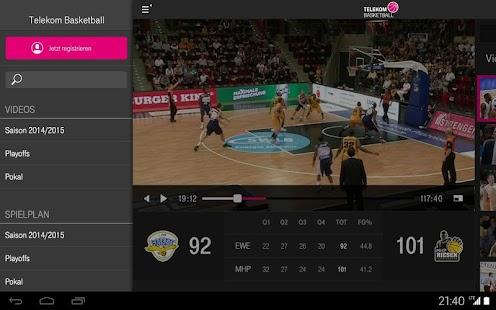 Telekom Basketball App