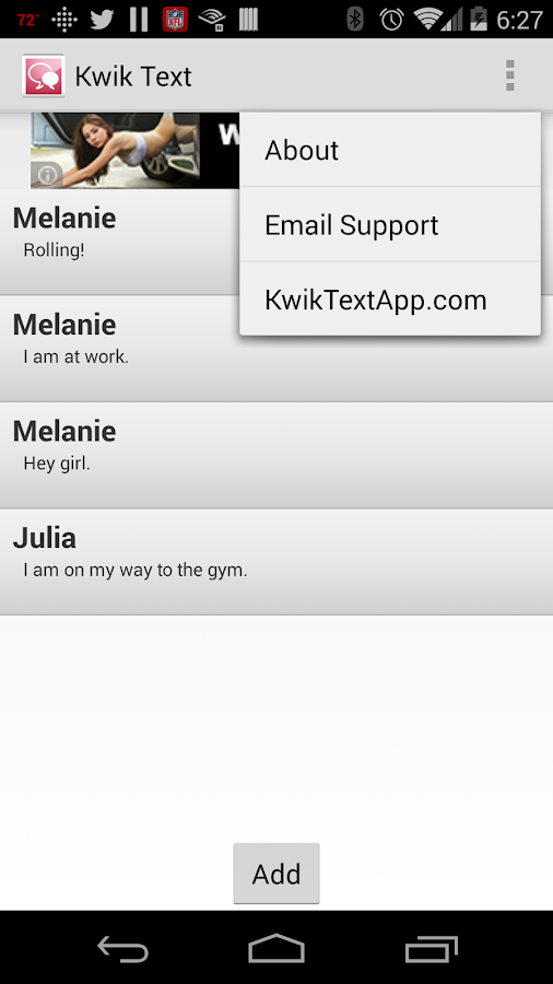 Kwik Text- screenshot