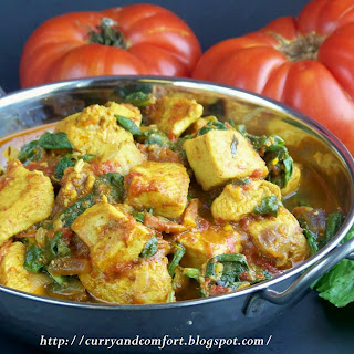 Chicken, Spinach and Tomato Curry.