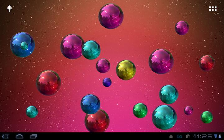 Space Bubbles Live Wallpaper Android App Screenshot