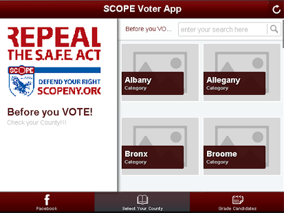 SAFE Act Voter App- screenshot thumbnail