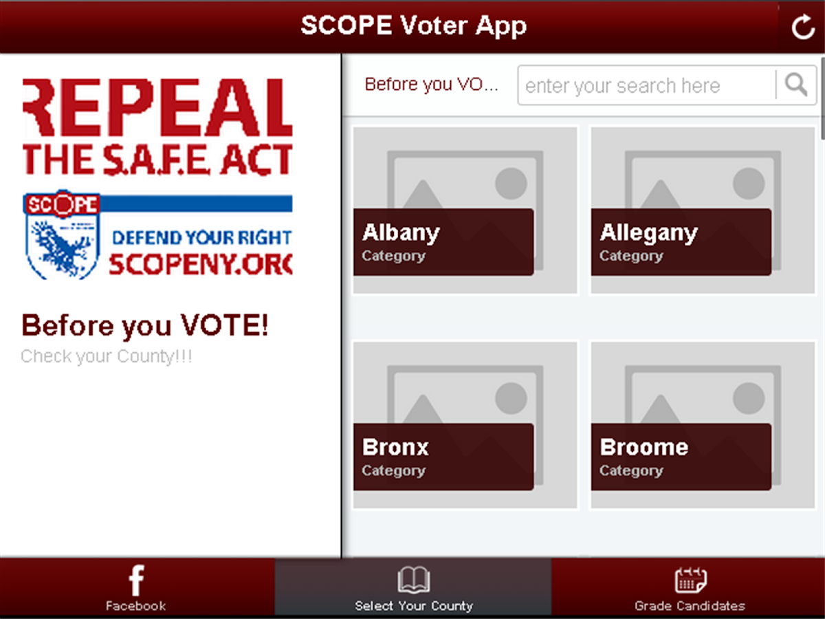 SAFE Act Voter App- screenshot