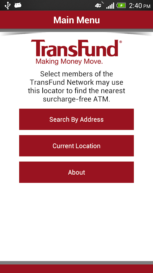 TransFund ATM Locator - screenshot