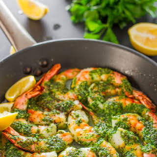 Garlic and Parsley Butter Shrimp.