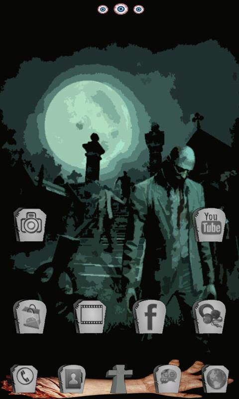 Zombie Nights GO Launcher EX- screenshot