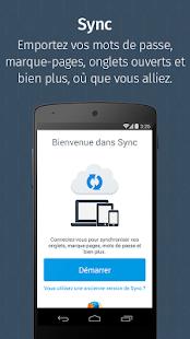 Firefox pour Android– Vignette de la capture d'écran