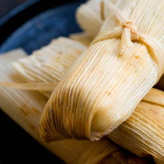 Turkey Tamales With Guajillo-cranberry Mole.