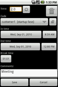 myTimeSheet Free screenshot 1
