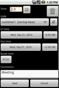 myTimeSheet Free - screenshot thumbnail