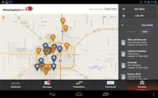Screenshot of Mobile Bank