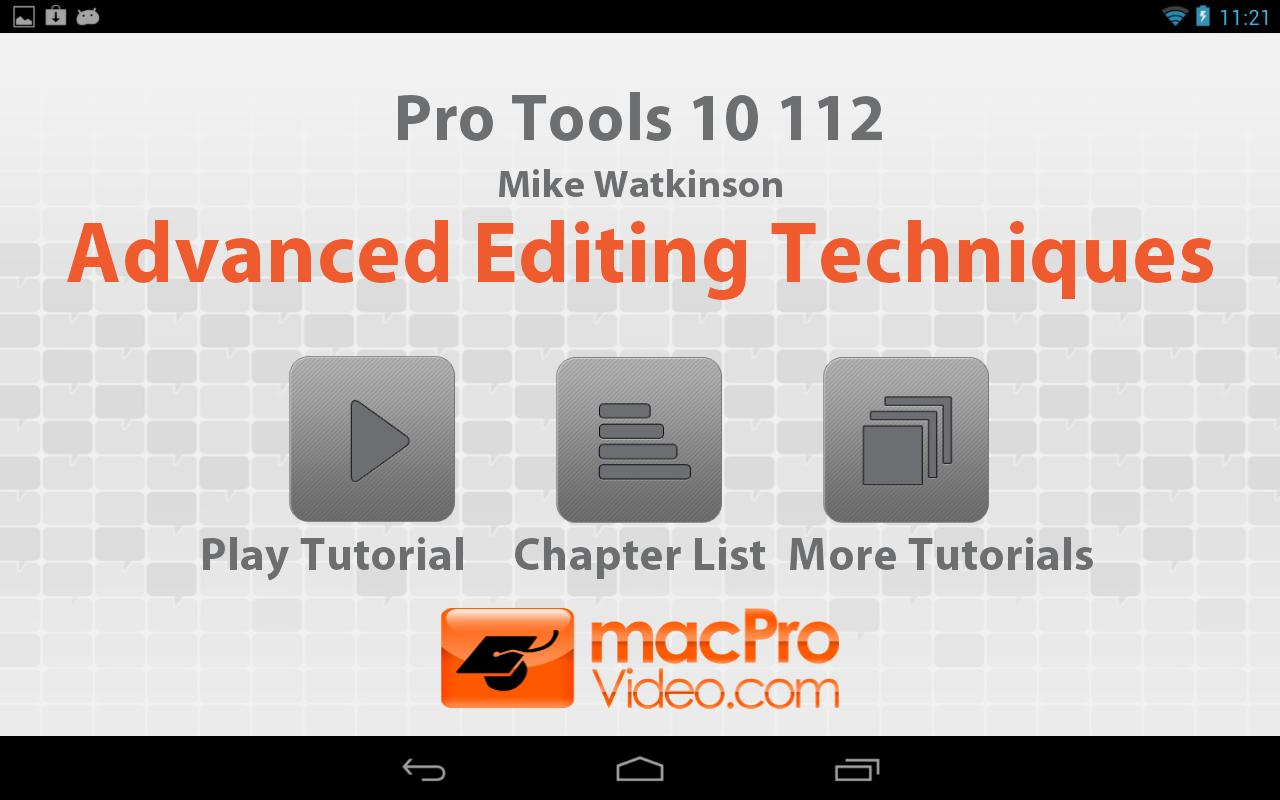 Pro Tools 10 Advanced Editing - screenshot