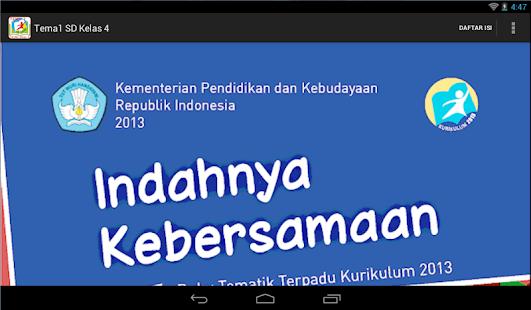 Bse Kur 2013 Sd Kelas 4 Tema 1 Apps On Google Play