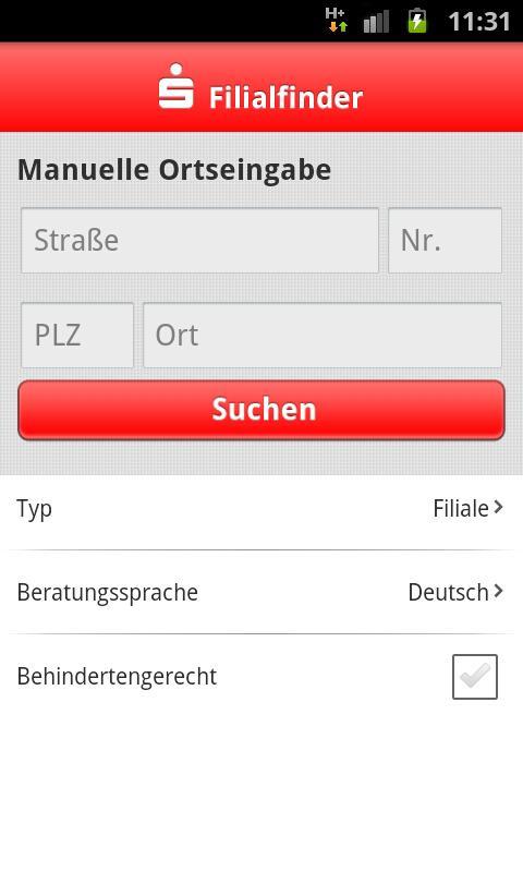 S-Filialfinder - screenshot