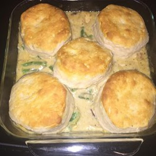 Chicken, Cheese, and Biscuits.