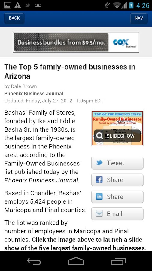 The Phoenix Business Journal - screenshot
