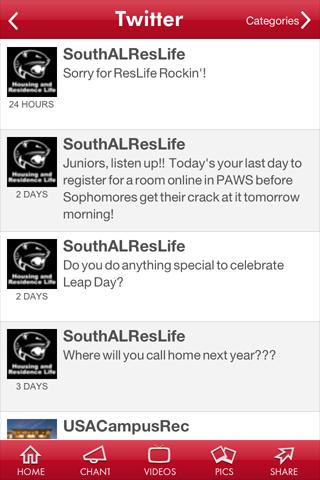 University of South Alabama- screenshot