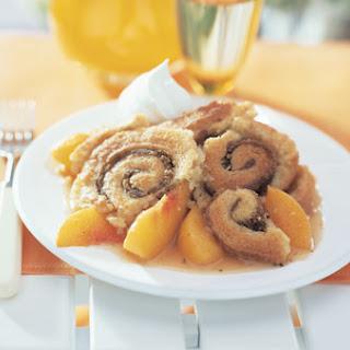Pinwheel Peach Cobbler