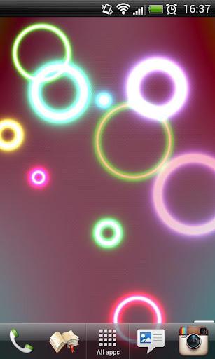 Neon Rings Live Wallpaper