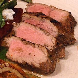 Balsamic- Rosemary Grilled Pork Tenderloin.