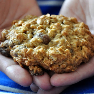 Oatmeal Cookies with Chocolate Covered Cranberries