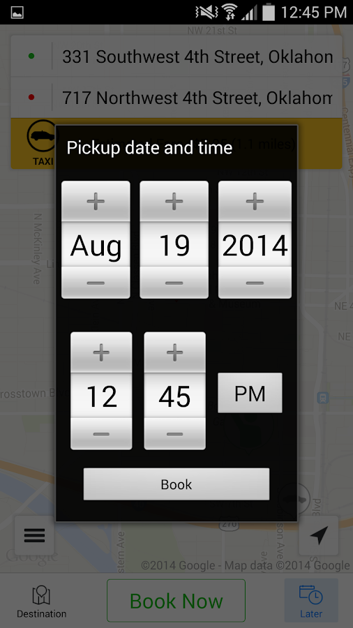 Yellow Cab Co. of Oklahoma- screenshot
