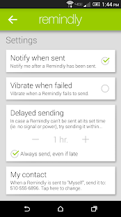 Remindly - Delayed SMS Sender- screenshot thumbnail