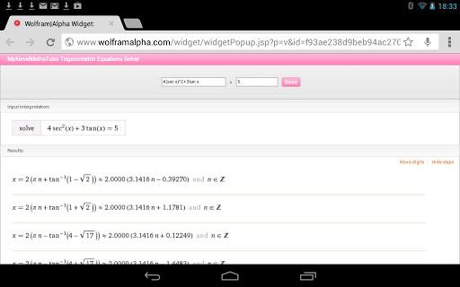 Trig Quadratics Calculator