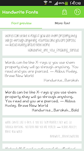 Handwrite Font for Flipfont