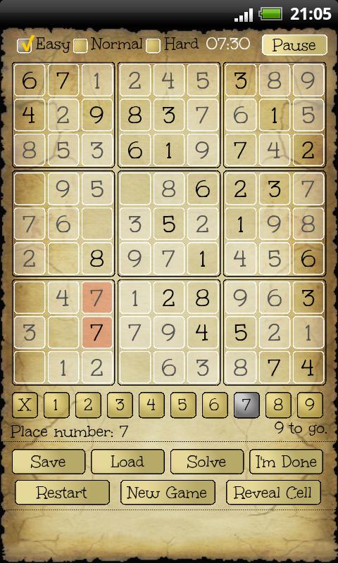 Sudoku - screenshot