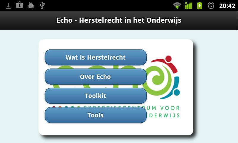 Herstelrecht in het onderwijs- screenshot