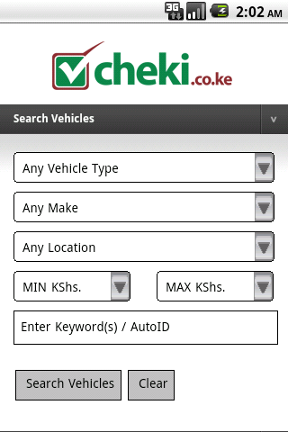 cheki.co.ke Kenyas #1 Car Site - screenshot