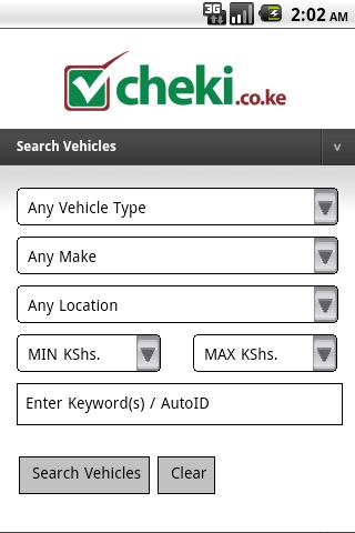 cheki.co.ke Kenyas #1 Car Site - screenshot