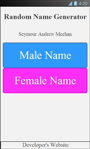 The Random Name Generator