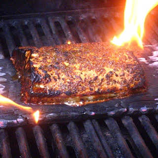 Cedar Plank Salmon (from Gourmet Magazine).